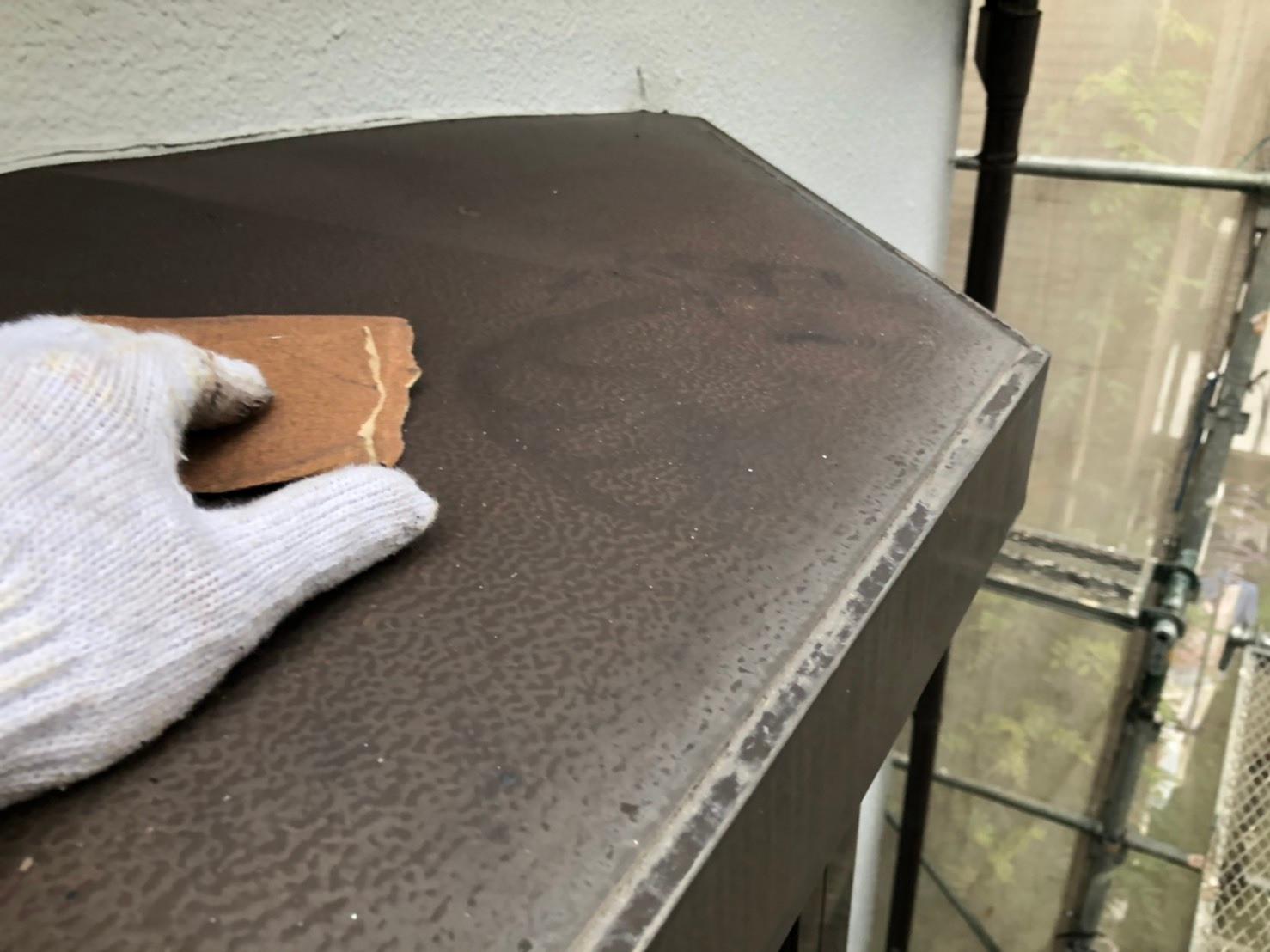 相模原市のK様邸で外壁塗装工事・屋根塗装工事の養生・付帯部ケレン作業です。 | 相模原市で多くの外壁塗装のご依頼を請け負うハートフルペイントのブログ